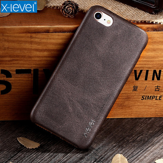 X-Level High Quality Vintage Phone Cases For Apple IPhone 7 Plus Luxury Back Case Cover For IPhone 7 Case Business PU Leather