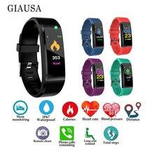 Color Screen Smart Bracelet Sport Fitness Tracker  Watch Running Walking Heart Rate Pedometer Band