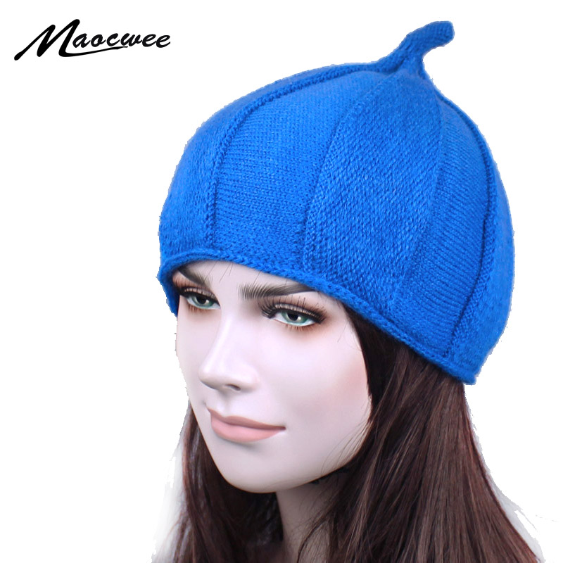2018 Spring Skullies Bonnets Knit Hat Lovely Womens Beanie Ski Cap Female Touca Hats for Woman Girl Beanies 4 colors gorro