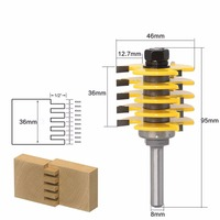 8MM Shank Router Bits For Wood 5 Blade T Type Milling Cutter Finger Joint Woodworking Knives Fresa Para Madeira HT19