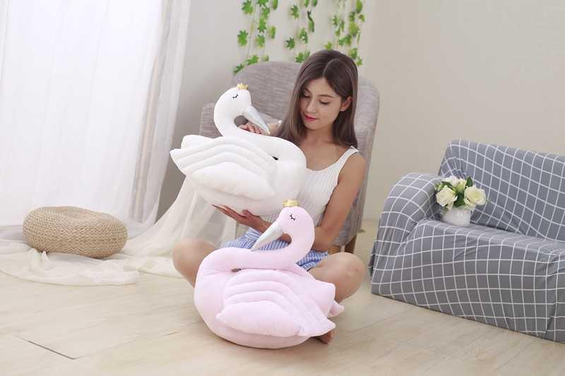 1 шт. 50 см Лебедь плюшевая игрушка милая кукла плюшевая игрушка-животное кукла Лебедь с короной принцесса кукла ребенок подарок для девочки вечерние игрушки