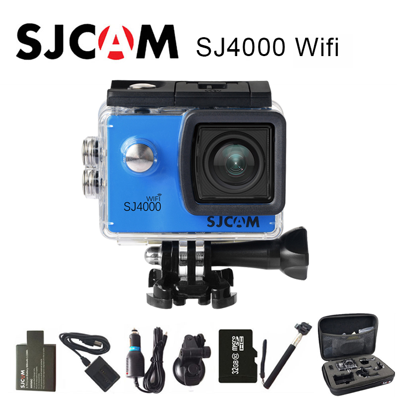 цена на Original SJCAM SJ4000 WiFi Action Camera 2.0 LCD Screen Sports DV 1080P HD Underwater 30M Waterproof mini Camcorder SJ 4000 Cam