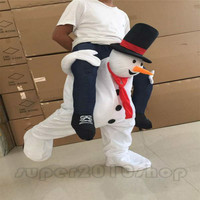Parade Costumes Snowman Mascot Suits Adult party Ride On suit Xmas Dress Outfits