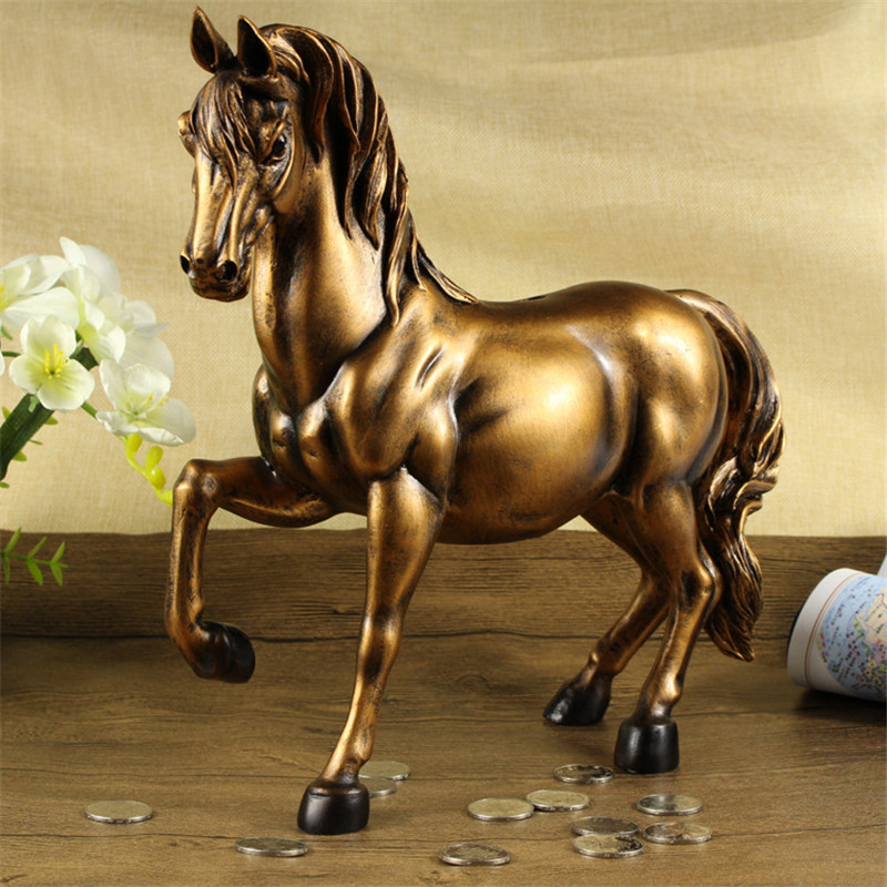 Vintage cheval Statues Figurines ornements chevaux artisanat boîtes à billets accessoires de décoration de la maison créatif affaires cadeaux de mariage