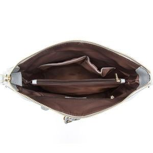 Image 5 - Zency New Fashion Women Shoulder Bag Metal Tassel 100% Genuine Leather Lady Crossbody Messenger Elegant Gift Handbag Black White