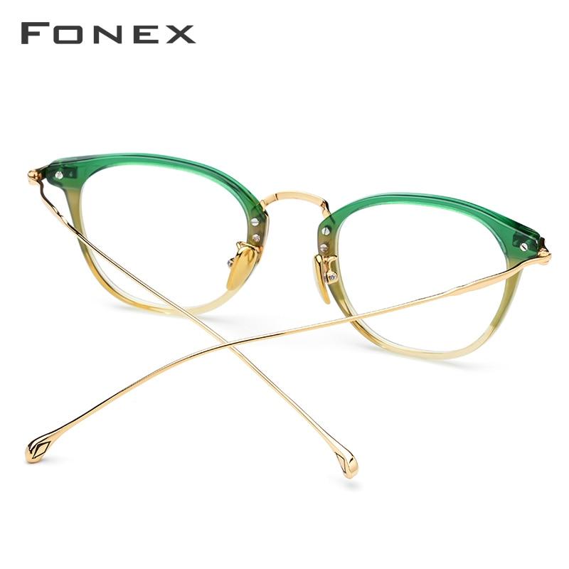 Image 4 - Pure B Titanium Optical Glasses Frame Men Vintage Square Prescription Eyeglasses Women Retro Round Myopia Spectacles Eyewear 839-in Women's Eyewear Frames from Apparel Accessories