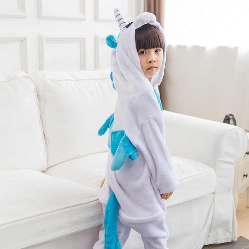 ורוד Unicorn סרבל תינוקות פיג 'מה Kigurumi בעלי החיים Unicornio קוספליי תלבושות ליל כל הקדושים משפחת פיג' מות נשים