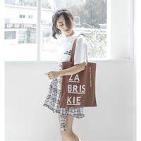 Pure Cotton Women Canvas Bag Ladies' Environmental Totes Letter Shoulder Bag Female Shopping Bag School Books Handbag for Lady Handbags