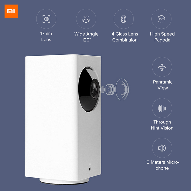 Image 5 - Original Xiaomi Mijia IP Camera Dafang Smart Monitor 120 Degree 1080p Smart Security WIFI Night Vision Camera For Mi Home App-in Surveillance Cameras from Security & Protection
