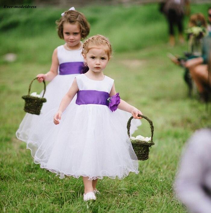 2019   Flower     Girl     Dresses   Tea-Length A-Line Zipper Back Princess Pageant Wedding Birthday Party   Dress   First Communion Party   Dress