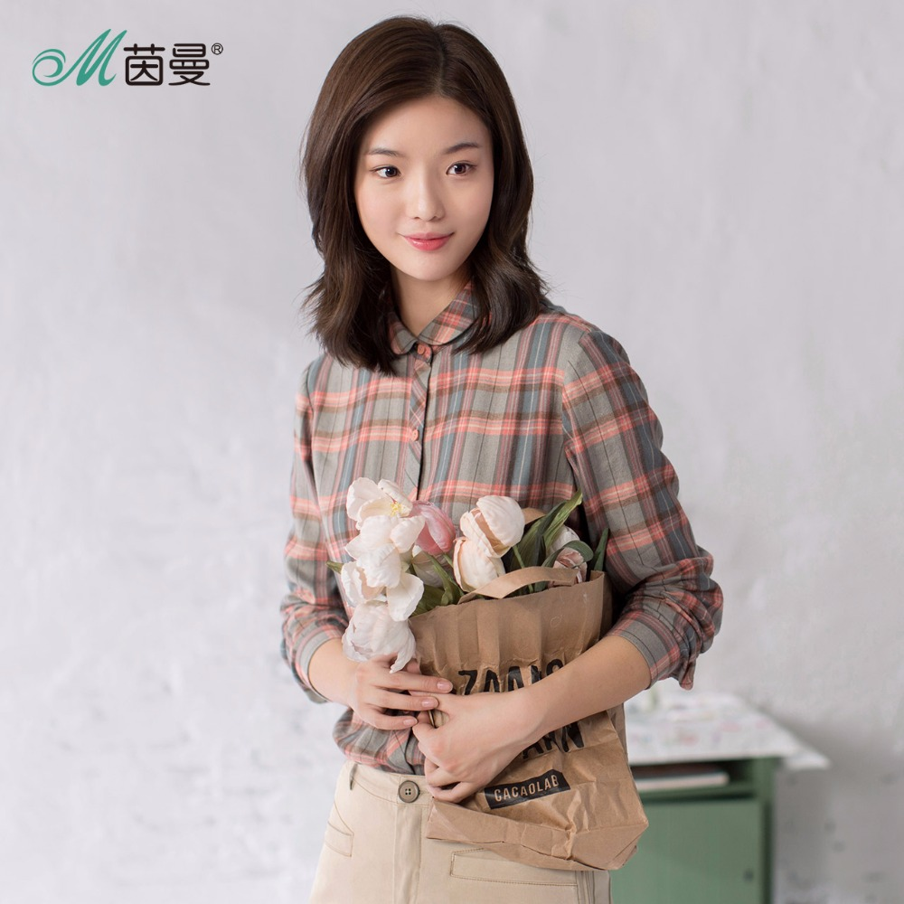 Image 3 - INMAN Women's Autumn Florals Plaid all match long sleeves Shirt Tops-in Blouses & Shirts from Women's Clothing