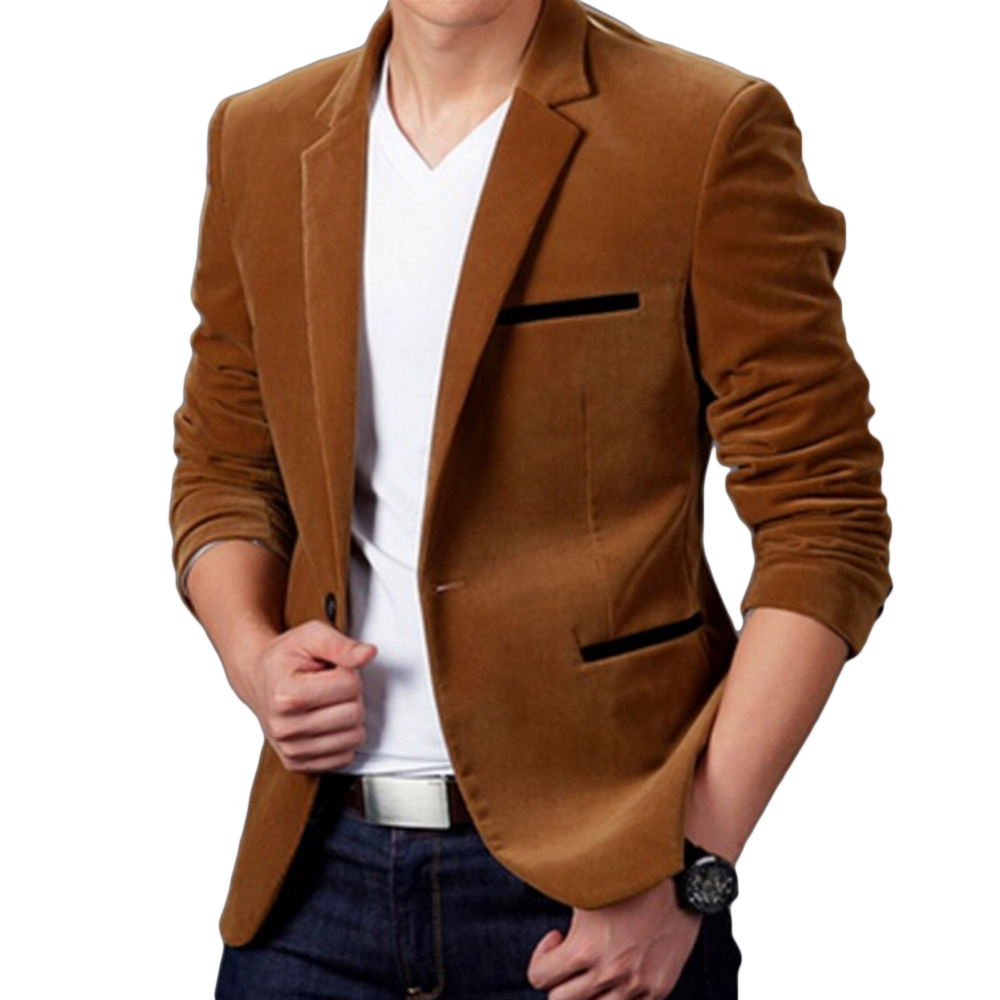 Men Blazer Slim-Fit Suit Cotton Spring-Fashion-Brand Luxury New Terno Masculino High-Quality