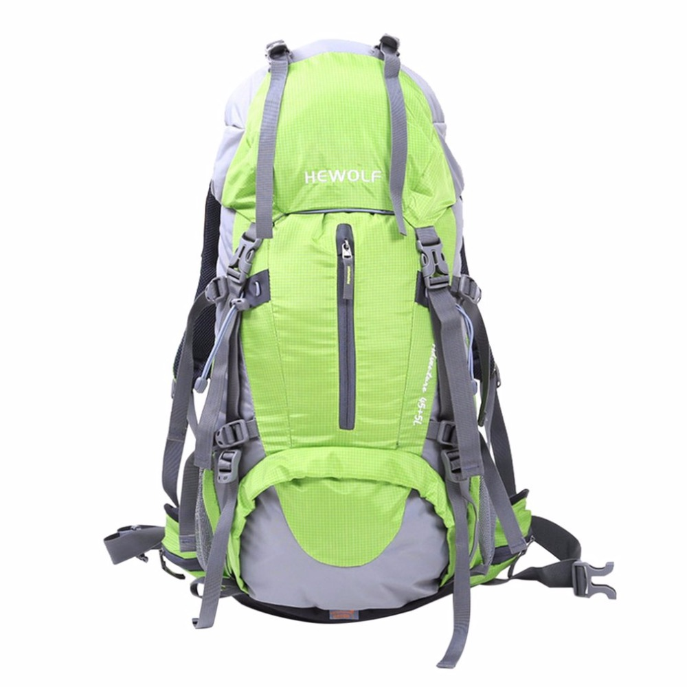 Hewolf Waterproof Travel Hiking Backpack 50L, Sports Bag For Women Men, Outdoor Camping Climbing Bag, Mountaineering Rucksack high quality 55l 10l internal frame climbing bag waterproof backpack suit for outdoor sports travel camping hinking bags