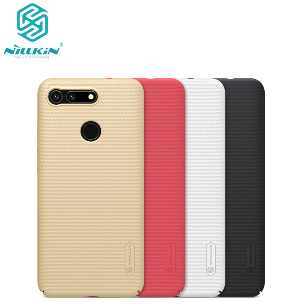 10pcs/lot wholesale Nillkin Super Frosted Shield Case For Huawei Honor View 20 PC Hard Back Cover Case For Huawei Honor V20 case-in Fitted Cases from Cellphones & Telecommunications    1