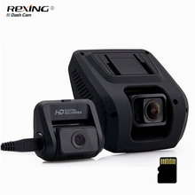 8G 16G 32G Rexing V1L Cámara Del Coche DVR 1080 P 170 grados de Granangular Dashboard Dash Cam Video Recorder Dual Channel noche-Visión