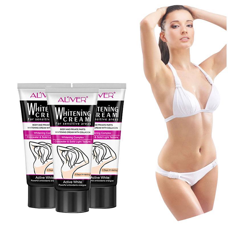 Moisturizing Whitening Body Cream For Dark Skin Armpit Elbow Bikini Underarm Thigh