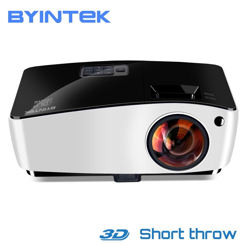 BYINTEK Nuvem K5 3D Vídeo HD Projetor DLP de Curto Alcance Para Daylight Educação Negócio Full HD 1080 P Filme Holograma home Theater