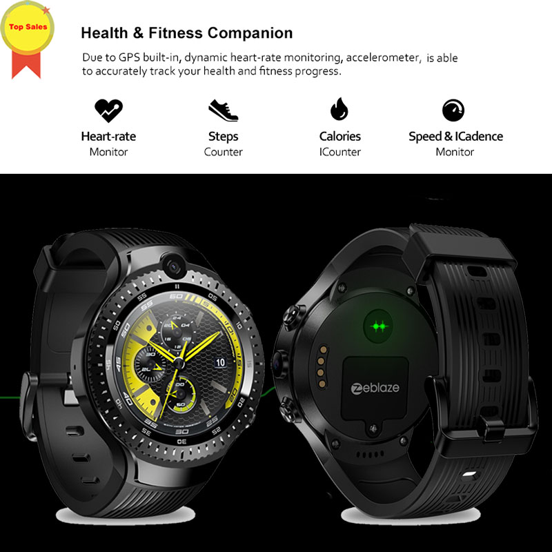 best watch 2019 double 5.0MP Camera Smartwatches 4G Smart Watch GPS Wifi Heart Rate Monitor phone call watch pk THOR 4 plus 4pro image