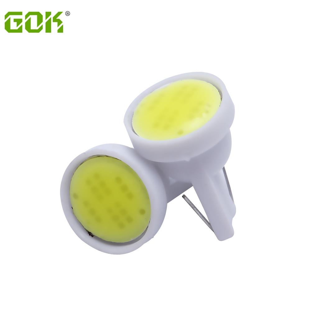 20PCS/LOT Wholesale T10 led cob light 194 168 W5W t10 6LED COB Chip Car Door Light Clearance Lights Car Side Light Bulbs White