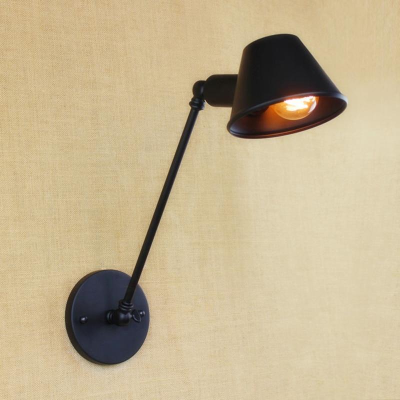 LOFT Nordic Vintage Wall Lamp Classic Black Art Sconce Decorative ...