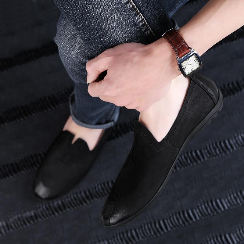 2018 nowy styl mężczyzna przypadkowych butów mokasyny czarny - Buty męskie - Zdjęcie 4