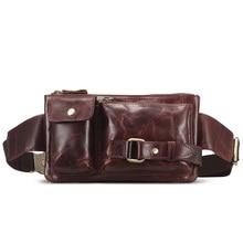 Doprava zdarma Pánské nové originální kožené Fanny pas Hip Bum Belt batoh Spojka taška Satchel Cross těla taška 2 barvy S3371