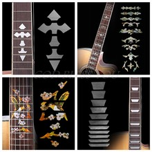 Cross Inlay Decals Fretboard Sticker For Electric Acoustic Guitar Accessories(China)