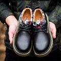 Primavera Verão Outono rodada sapatos casuais homens dos homens em massa masculinos estilo Britânico sapatos de couro homens Oxford sapatos flats