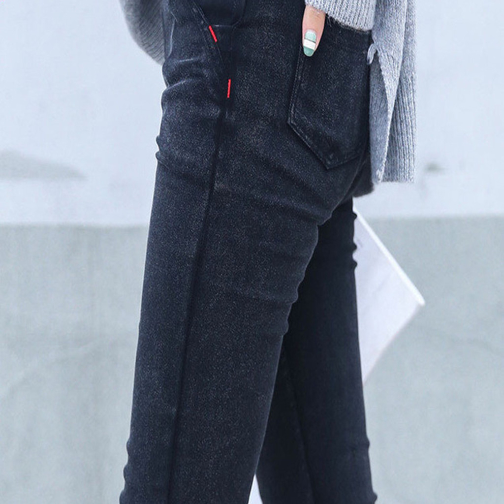 Skinny Jeans Woman 2017 New Spring Fashion Boyfriend Washed Elastic Denim Trousers Pencil Slim Capris Pants Imitation Jean Femme fashion europe style printed jeans men denim jeans slim black painted pencil pants long trousers tight fit casual pattern pants