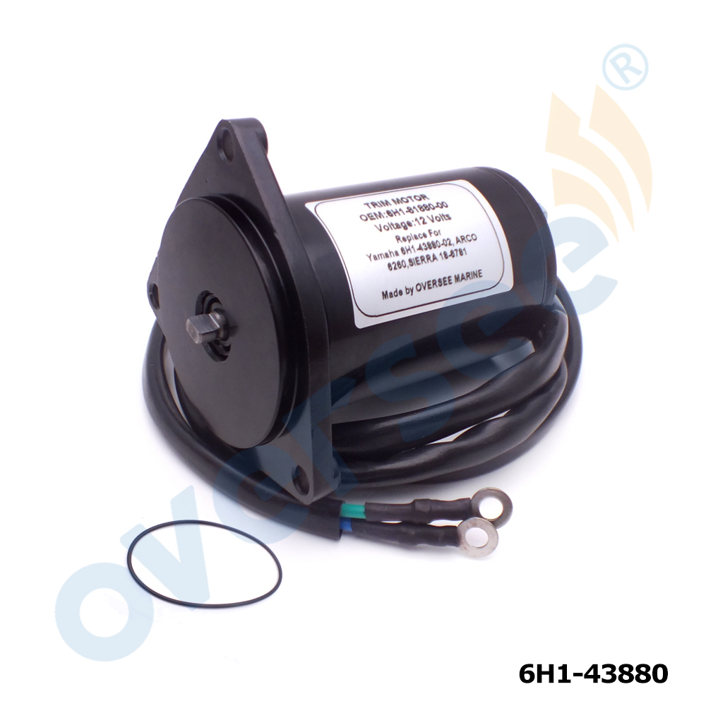 6H1-43880 PowerTilt Trim Motor For YAMAHA Outboard Motor 50HP 55HP 60HP 70HP 85HP 90HP  6H1-43880-02 430-22028(China)