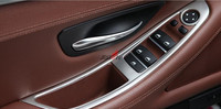 Car Styling ABS Chrome Window Lift Switch Button Cover Trim For BMW 5 Series F10 520 525 2011 2014 Accessories