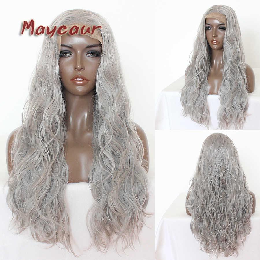 Парики из искусственных волос без шапочки-основы короткий волнистые серый парик из натуральных волос Карнавальные парики