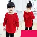 Мода простой свитер с капюшоном Девушка Свитера детский свитер Мальчики свитер девочки Осень и зима одежды Дети пальто