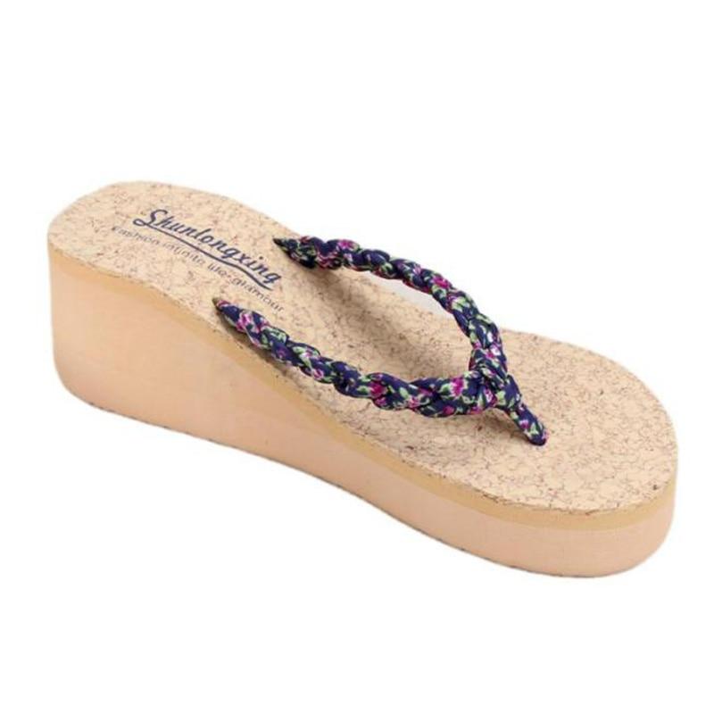 Summer Bohemia Sweet Floral Flip Flops Sandals Clip Toe Sandals Beach Shoes beach flip-flop slip-resistant herringbone sandals sandals 2016 new famous brand buckle womens flip flop sandals summer beach sandals af327