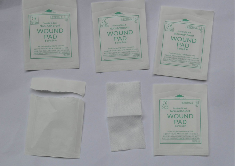 20pcs/Lot Sterile Wound Pad for Emergency Kit double sided