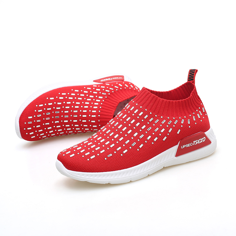 En Sneakers Black Plat Femmes Maille red Femme Respirant Jx3 Causal Marque white Confortable Cuir Chaussures Printemps Twx4qg