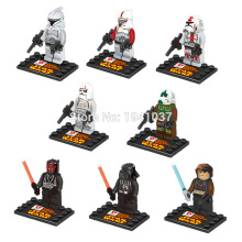 D850 Star Wars Minifigures 8pcs/lot Yoda Han Solo Obi Wan Kenobi Building Blocks Sets Model Classic Toys For Children Bricks
