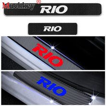 Door Threshold Plate Sill Scuff For Kia Cadenza Opirus Rio Cerato Sorento Car Entry Guard Sticker 4Pcs