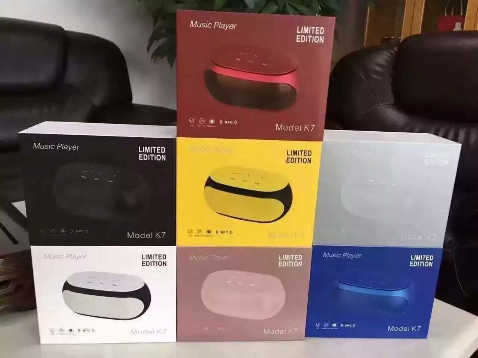 ФОТО Touch Control K7 Bluetooth Speaker Super Bass Wireless Speaker Subwoofer TF card FM radio