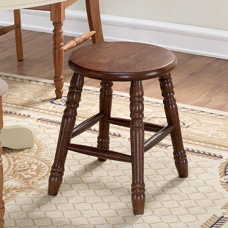 Round Wood Seat Wooden Stool Chair Solid Oak Wood Living Room Furniture Childern Small Stool Wooden Modern Low Dressing Stool free shipping dining stool bathroom chair wrought iron seat soft pu cushion living room furniture
