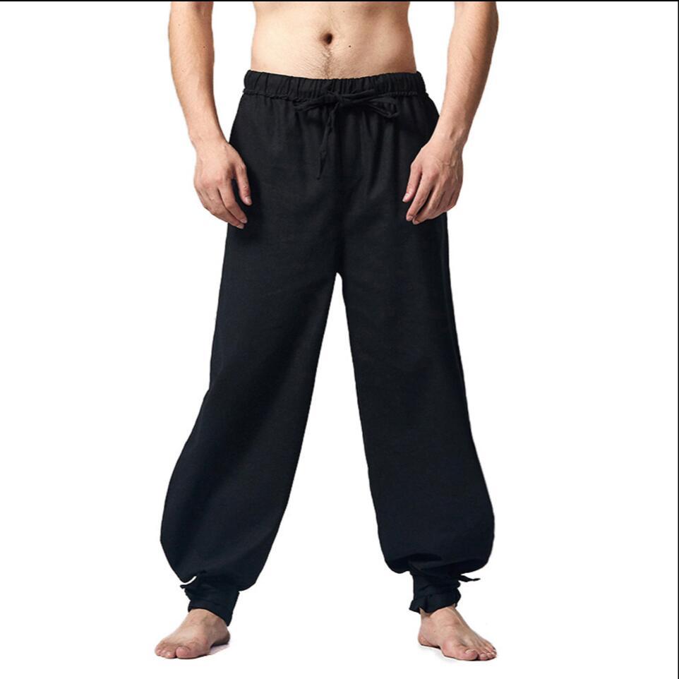 M-5XL 2017 Новый Китайский стиль мужская одежда хлопок белье Шаровары Практике брюки свободные случайные широкие брюки ноги плюс размер брюки
