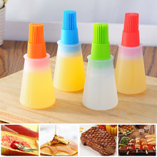 Kitchen Accessories Storage Bottles For BBQ Grill Oil Brush Portable Baking Cooking Tools Silicone Bottle
