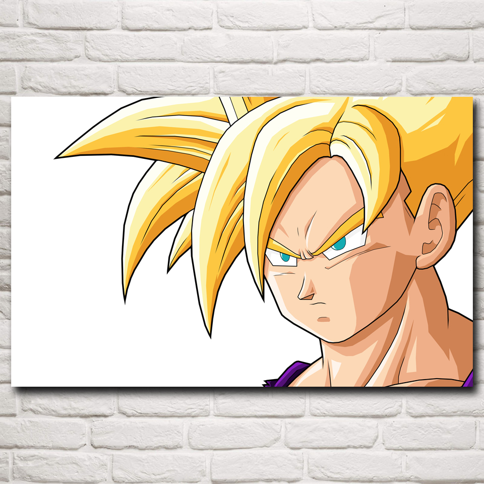 웃 유Dragon Ball Son Gohan Anime Cartoon Art Silk Poster Prints Home ...