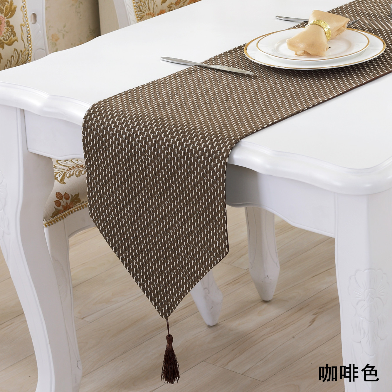 Buy New Simple Modern Luxury Fashion Table Runner Plaid Knit High End Coffee