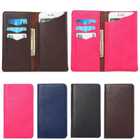 Universal Wallet Flip Leather Stand Phone Case Cover For Samsung Galaxy S1 S2 S3 S4 S3