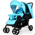fashion twins stroller four color to choose hot sale twins baby stroller with good shock absorption folded double child stroller