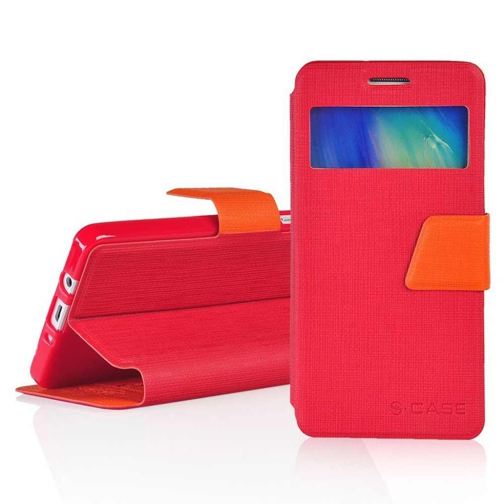 PU Kulit 4.5For Samsung GALAXY CORE Prime Case untuk Samsung GALAXY CORE Prime G360 Ponsel Flip Cover