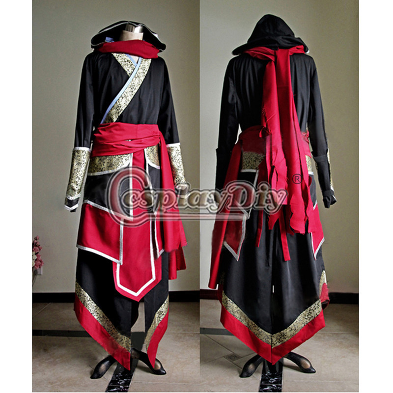 Cosplaydiy Custom Made Ezio Cosplay Costume Outfit Set For Adult Men Halloween Cosplay Costume