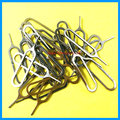 10pcs/lot Sim Card Tray Open Eject ejector Pin Key For iPhones 6S 6 5 Huawei mate 7 P7 Samsung galaxy S5 S6 edge note 3 4 5 Plus