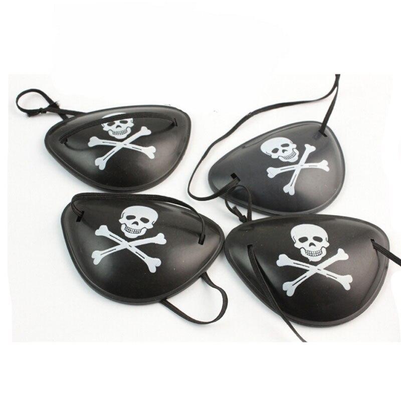 10 cái Pirate Pirate Patch Mặt nạ mắt Eyeshade Cover Plain cho người lớn Lười mắt Amblyopia Skull Eye Patch Trang phục Halloween Mask Đồ chơi súng đồ chơi và dao đồ chơi